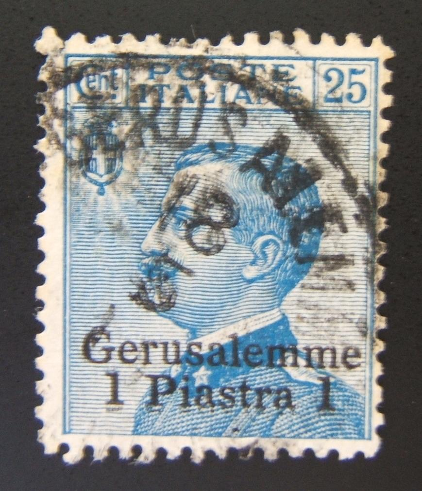 Italian Post in Holyland 1909 Gerusalemme ovpt: 1 Piastra/25c (Ba 34), used