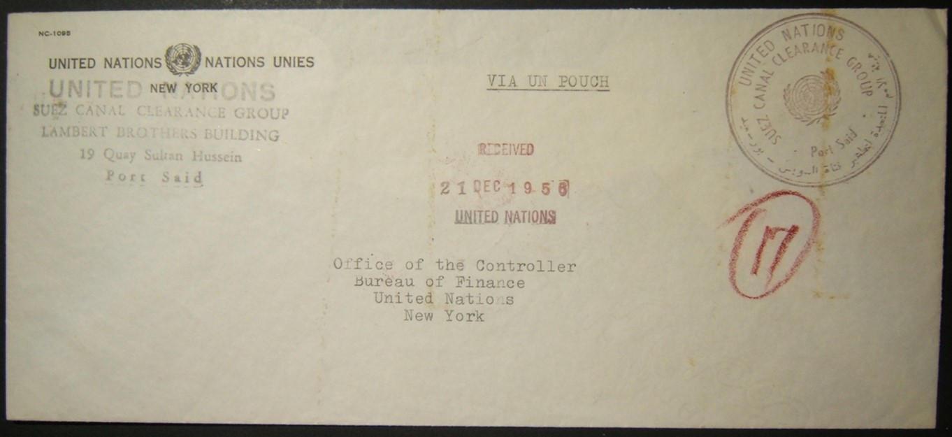 1956 حقبة حرب سيناء تقوم بتجميع مجموعة قناة السويس للتخليص إلى الولايات المتحدة عبر الحقيبة الأممية