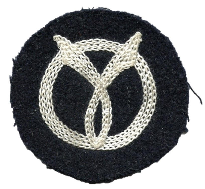 Collaborationist Vichyite Milice Francaise Franc-Garde embroidered emblem patch