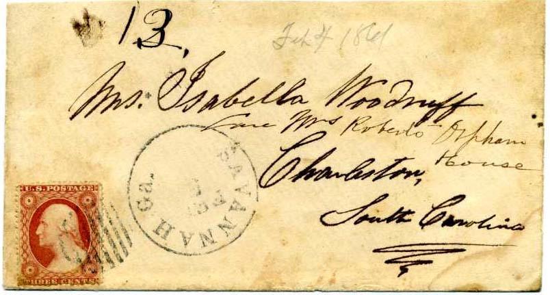4-5 فبراير 1861 اليوم الأول من بريد الكونفدرالية / الحرب الأهلية باستخدام البريد الأمريكي