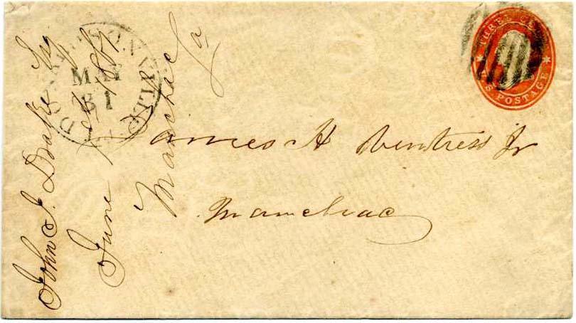 """31 במאי / 1 יוני 1861 יום אחרון ארה""""ב / יום ראשון Confederate מלחמת האזרחים דואר שירות"""