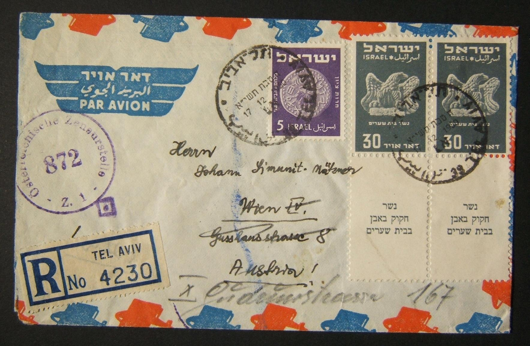 1950 1st airmail / PO's, rates & routes: 17-12-1950