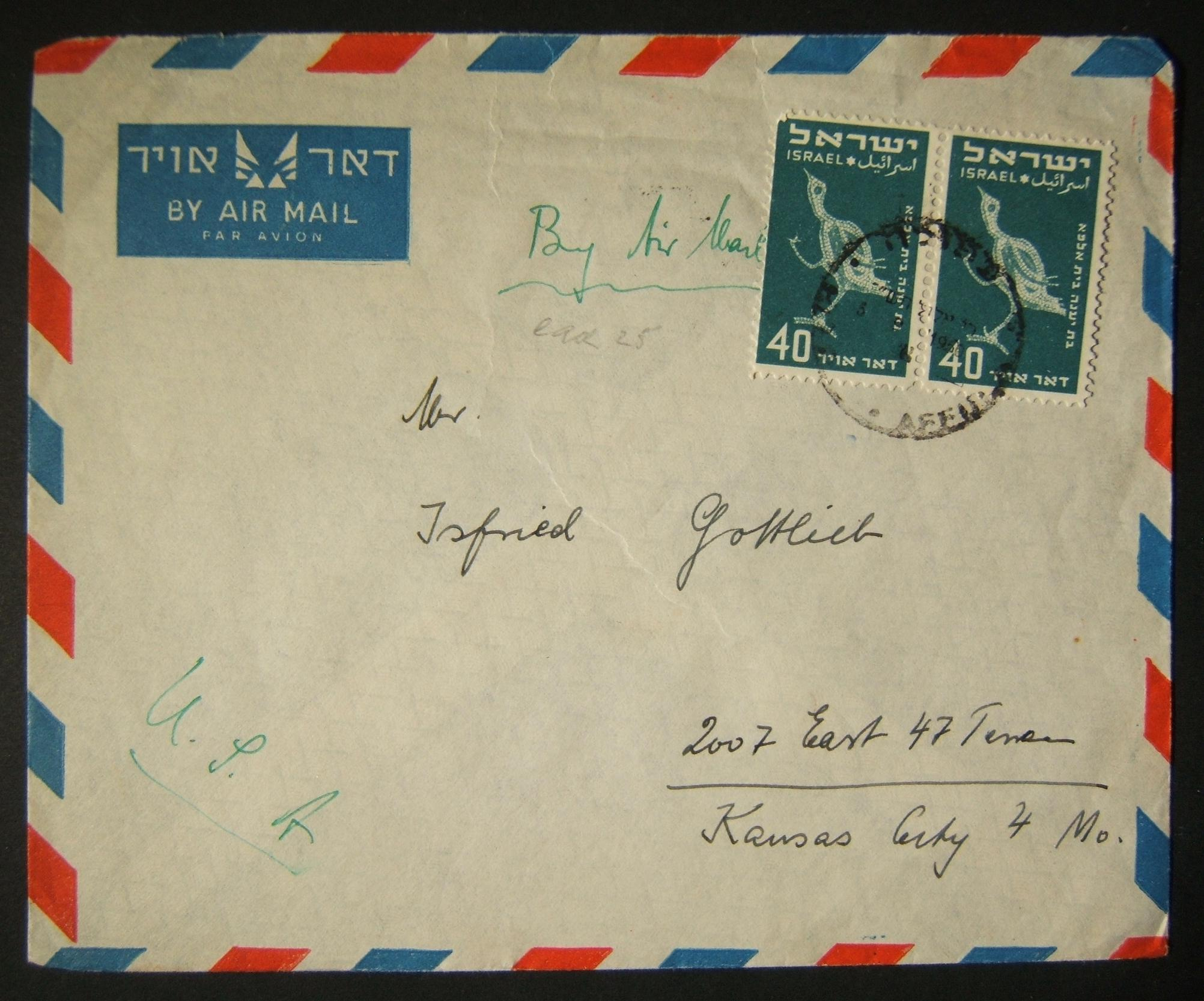 1950 1st airmail / PO's, rates & routes: 5-9-1950