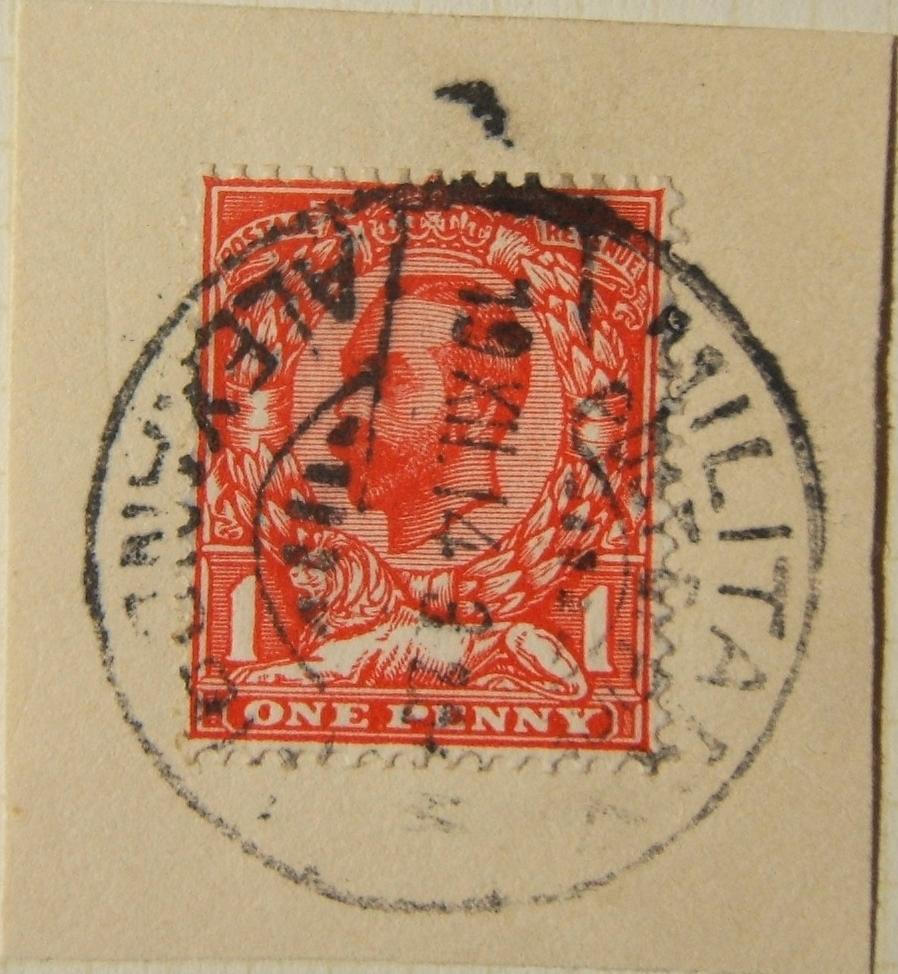12/1914 WWI Egyptian MILITARY POST OFFICE ALEXANDRIA postmark on British stamp