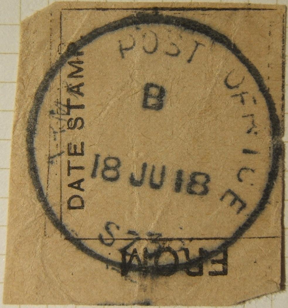 6/1918 WWI פלשתינה צבא צבאי בריטי APO SZ 36 חותמת דואר ביריחו על גזרה