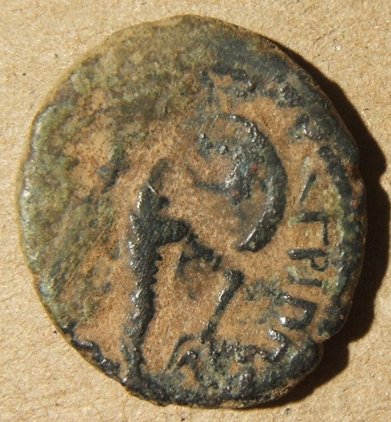 Domitian (Agrippa II under Flavian rule) > Samaria > Caesarea Maritima, 83-84 CE (year 24); 16.75 x 19.5mm, 4.2 g: laureate head right & leg. ΔOMET KAIC ΓEΡMA / Nike standing right