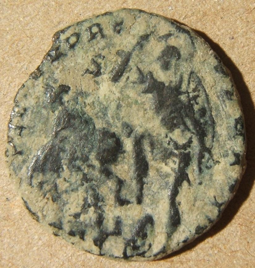 الرومانية القديمة / البيزنطيون Constantius الثاني Augustus maiorina عملة 348-51 م ، S-18147