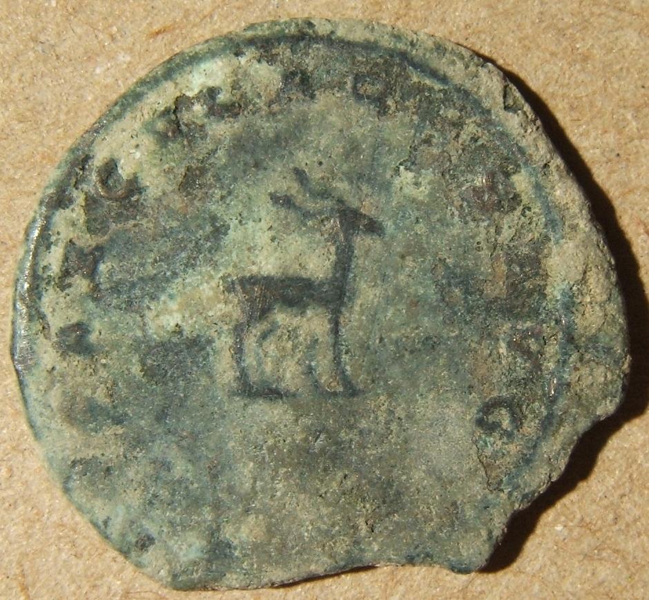 עתיק רומי / סורי מכסף אנטוניניאנוס גלינוס w / יוונית לא לטינית E rev