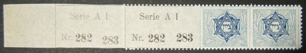 الصندوق القومي اليهودي / الصندوق القومي اليهودي / KKL 1902 رقم الطبعة الثانية MNH American 2nd printing Kap-3