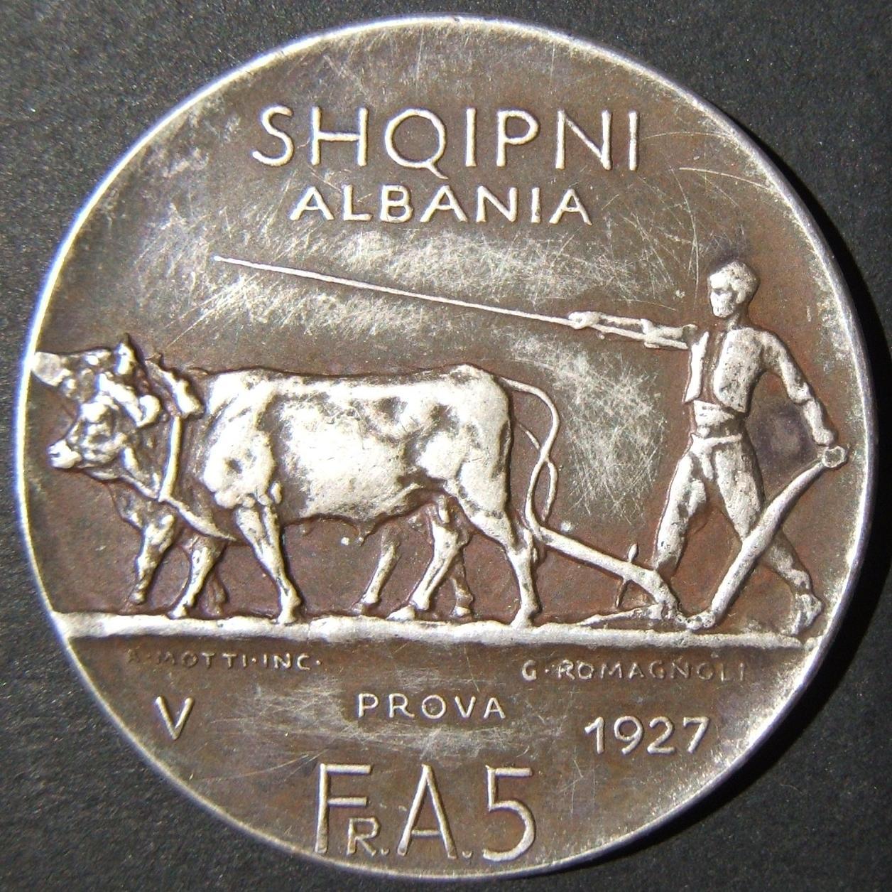Albania: 5 Franga Ari