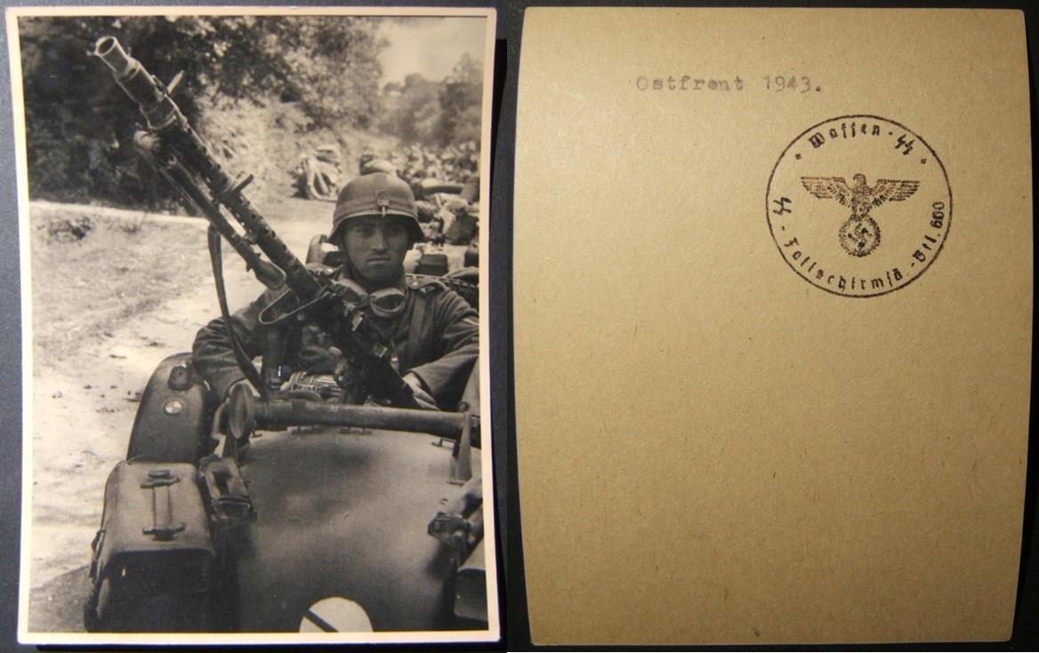 תצלום מקורי של מלחמת העולם השנייה, הקשור לגדוד הצנחנים ה -600 של ה- SS & Luftwaffe, 1943