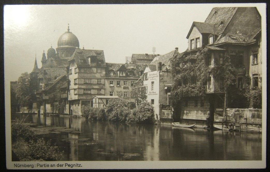 بطاقة يهودية يهودية للصور في كنيس عظيم نورنبرغ ، مستعملة