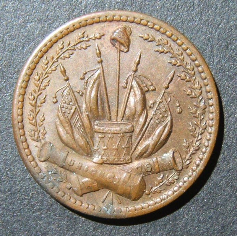 American Civil War Union token Our Country/Cannons (1864), F-231/352A