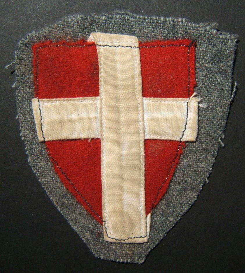 WWII collaborationist Waffen-SS Danish Free Corps Frikorps Danmark military patch