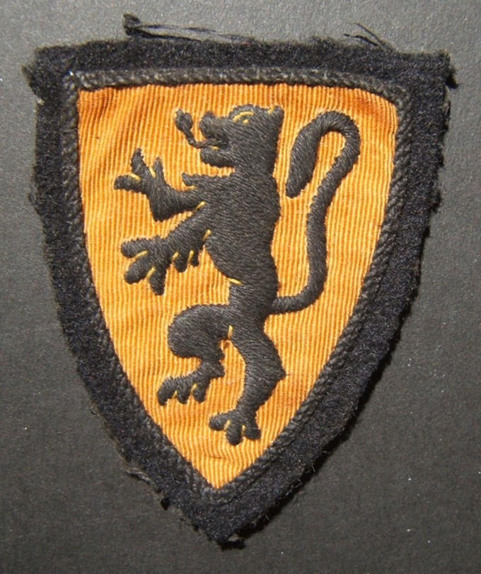 Military patch of WWII collaborationist Belgian-Flemish Waffen-SS Volunteer Legion