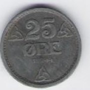 Norway: 25 Ore coin, 1944, EF-AU