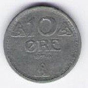 Norway: 10 Ore coin, 1945, UNC