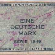 Germany: 1 Deutsche Mark banknote, 1948, Allied occ; F-VF