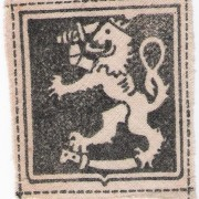 Printed armshield patch for Finnish volunteers in German military, 1941-43