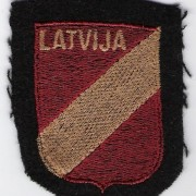 Armshield of Latvian soldiers in Waffen-SS ('Latvian Legion'), c. 1944-45