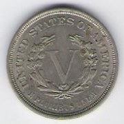 US: Liberty head nickel, 1883 (no CENTS), AU-55