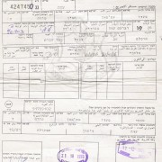 x7 Visit permits issued by Ministry Interior w/IDF cachets, 1976-77