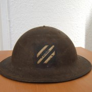 US WWI M1917 Brodie helmet, US 3rd Division of A.E.F. w/emblem