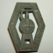Norwegian 'Frontkjemper' (Front Fighters) badge (replacement?) in zinc