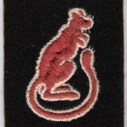 'Desert Rats' (British 7th Armoured Div.) shoulder patch, 1940-45
