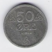 Norwegen: 50 Öre-Münze, 1942, VZ