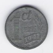 Netherlands: 1 Cent coin, 1941, F-VF