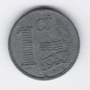 Netherlands: 1 Cent coin, 1944, AU