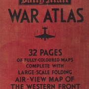 Book: 'Daily Mail' WWII War Atlas, circa Feb.- Mar. 1940, 32 pgs