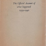 Book: 'Belgium: The Official Account of What Happened, 1939-1940'