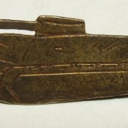 Rare IDF tank corps maker-marked tunic pin, c.1948-1950