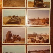 x8 original battlefield color photos from Yom Kippur War, 1973