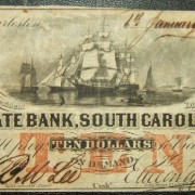 United States: South Carolina State Bank $10 banknote 6.01.1860; F-VF