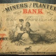 United States: N.C. Miners & Planters Bank $5 banknote 4.06.1860; G-VG