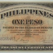Philippinen: 1 Peso Banknote (1949) mit 'Victory'; CRISP/ST.