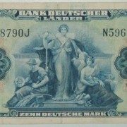 Germany: 10 Marks banknote, 1949, Bank Deutscher Lander VF+