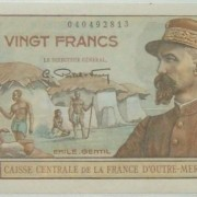 France: French Equatorial Africa 20 Francs banknote (1947); AU