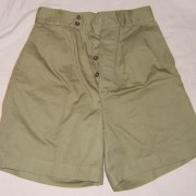 'ATA' shorts in green denim for civilian or military wear, c. 1953