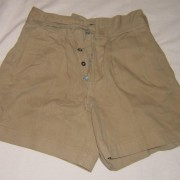 British Army world war II khaki shorts, 1943