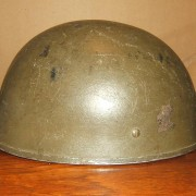 British paratrooper type-3 1944 BMB made helmet used by IDF, 1948-50s