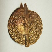 Rare IDF General Staff emblem tunic pin, cir. 1948-1950