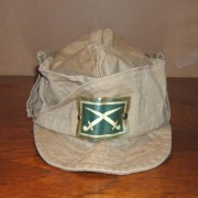 Syrian Army khaki service cap with infantry insignia, circa 1960's