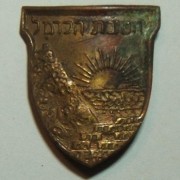 Service pin of 'Carmel Brigade' of the pre-IDF Haganah, c.1948-49