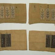 Old IDF officer battledress shoulder strap ranks (x2) c.1948-1950s