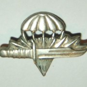Israeli Army paratroop battalion (890th) commando school pin, 1955-1960s