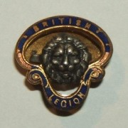 British Legion 'miniature' lapel badge by Gaunt, numbered A 687952